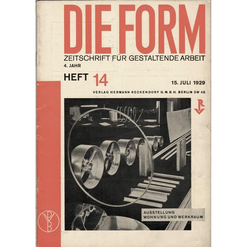 DIE FORM. Zeitschrift für gestaltende Arbeit. Heft 14/1929