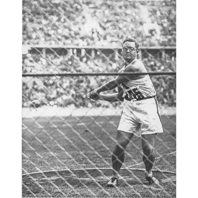 OLYMPIC GAMES BERLIN 1936. Japanese hammer thrower. Original photography (1936).