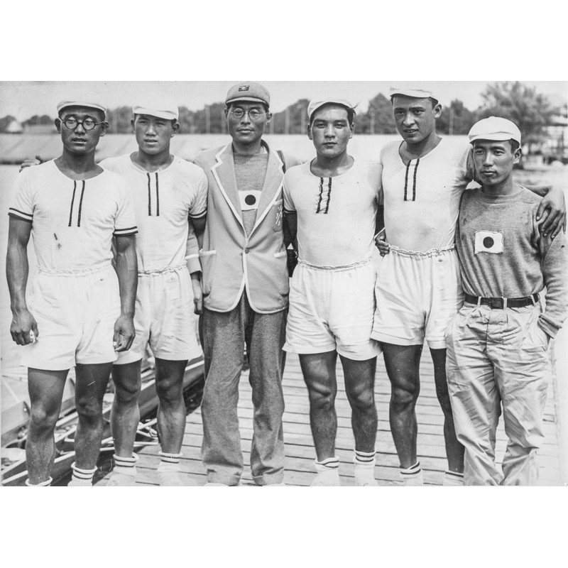 OLYMPIC GAMES BERLIN 1936. Team of the Japanese rower. Original photography (1936).