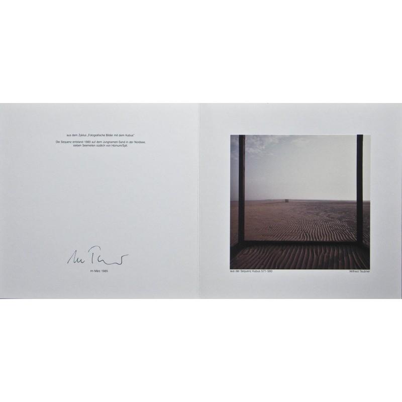 TÄUBNER, Wilfried: Aus der Sequenz Kubus 571-580. Original Farb-Fotografie (1980).