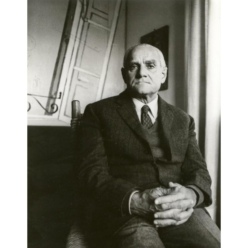 TAPPE, Horst: Alberto MORAVIA. Original-Fotografie (1980er Jahre).