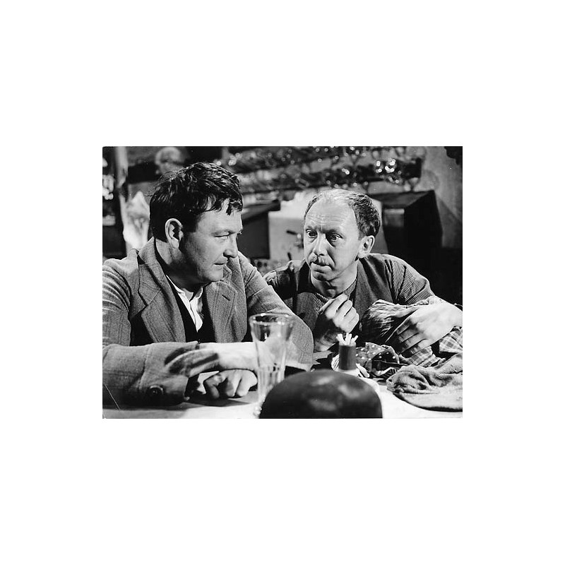 "Wolfgang Müller und Wolfgang Neuss im Film ""Der Maulkorb."" Original-Fotografie (1958)."