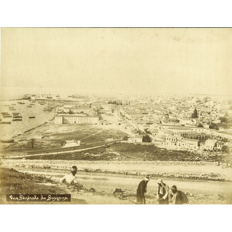 Historic Turkey. Views of Smyrna (Izmir) - Jules LIND: Town view. Original photography (approx. 1898).