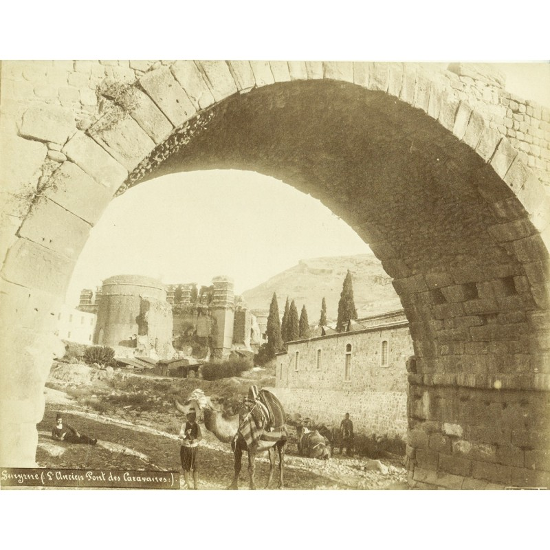 Smyrna (Izmir) - Lind, Jules: Smyrna. Ancien Pont des Caravanes. Original photography. Albumen print (approx. 1898).