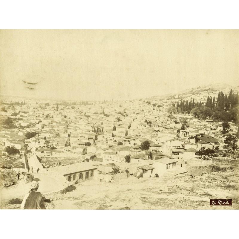 Historische Fotografie mit Ansichten aus Smyrna (Izmir). Stadtansicht. Original Fotografie (ca. 1898).