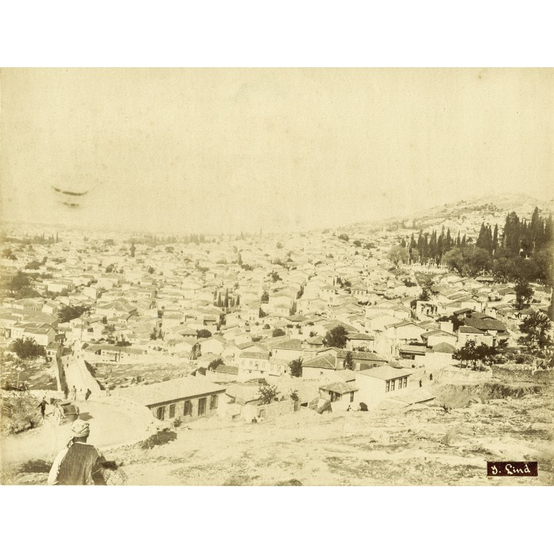 Historic Turkey. Views of  Smyrna (Izmir): Town view. Original photography (approx. 1898).