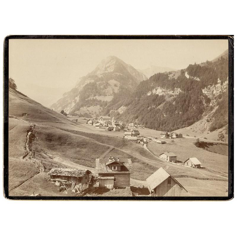Foto-Atelier Karl August Koch, Schaffhausen: Ansicht von Melchtal. Original-Fotografie (ca. 1890).