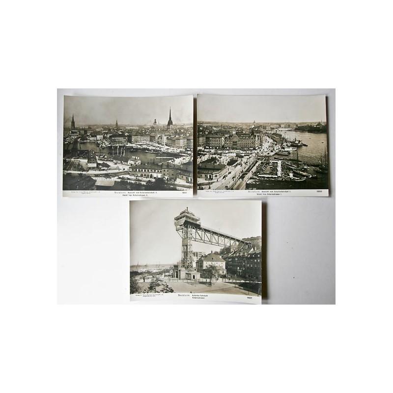 NPG, Berlin-Steglitz: Stockholm. 3 Original-Fotografien (1909).