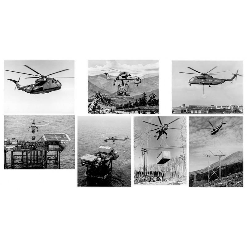 Hubschrauber Konstruktion und Entwicklung - Sikorsky:7 Original Fotografien (1967 - 1968).