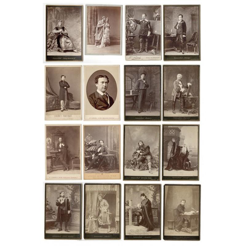 Der Hof- und Burgschauspieler Adolf von SONNENTHAL. 19 Original Fotografien (ca. 1860 - 1900).