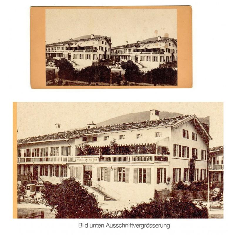 Anonymer Fotograf: Tegernsee. Hotel zur Post. Stereo-Fotografie (um 1900).