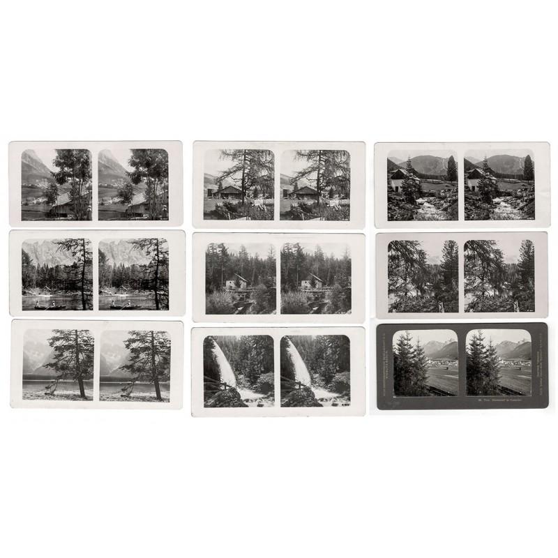 NPG (dieser zugeschrieben), Süd-Tirol und Cortina: 9 Stereo-Fotografien (um 1900).