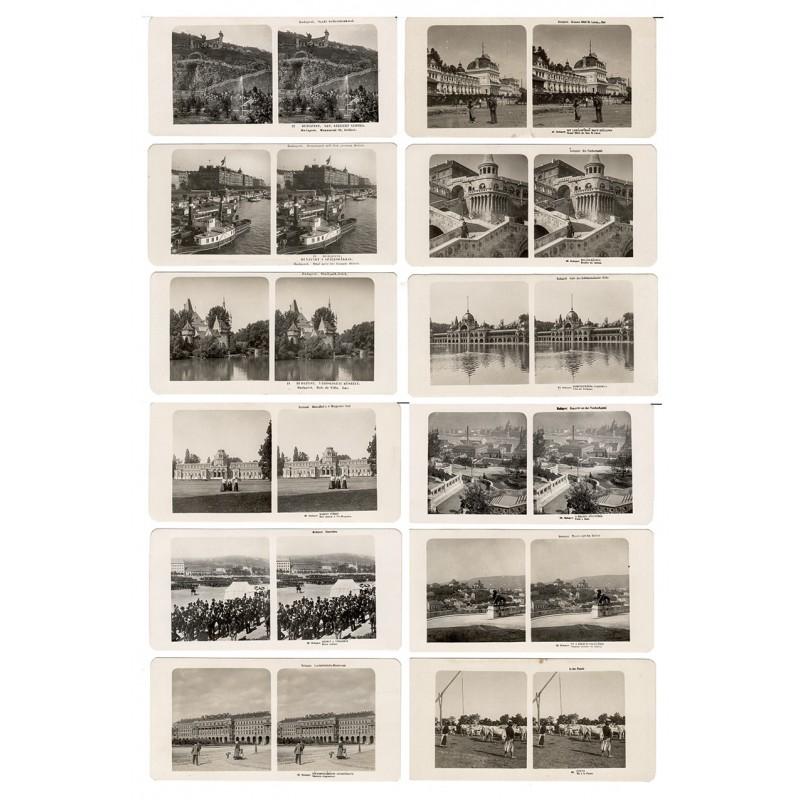 Neue Photographische Gesellschaft, Berlin Steglitz: Ungarn. Budapest. 32 Stereo-Fotografien (1906)