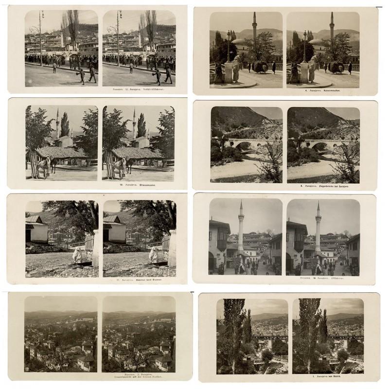 NPG, Berlin: Bosnien. Sarajewo. 8 Stereo-Fotografien (1906)