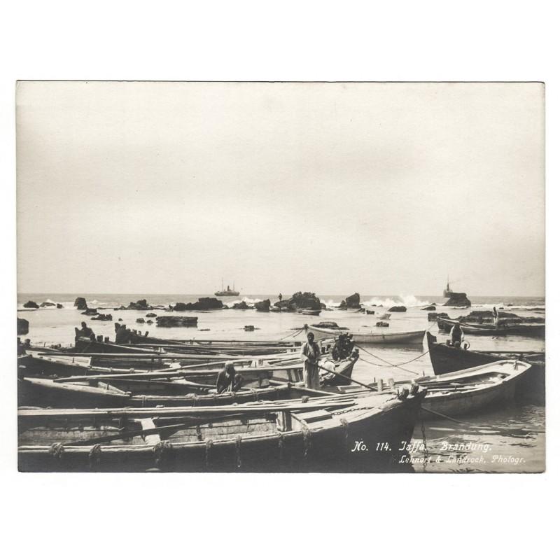 Israel / Palästina - LEHNERT & LANDROCK: Jaffa. Bootshafen. Original-Fotografie (1920er Jahre).