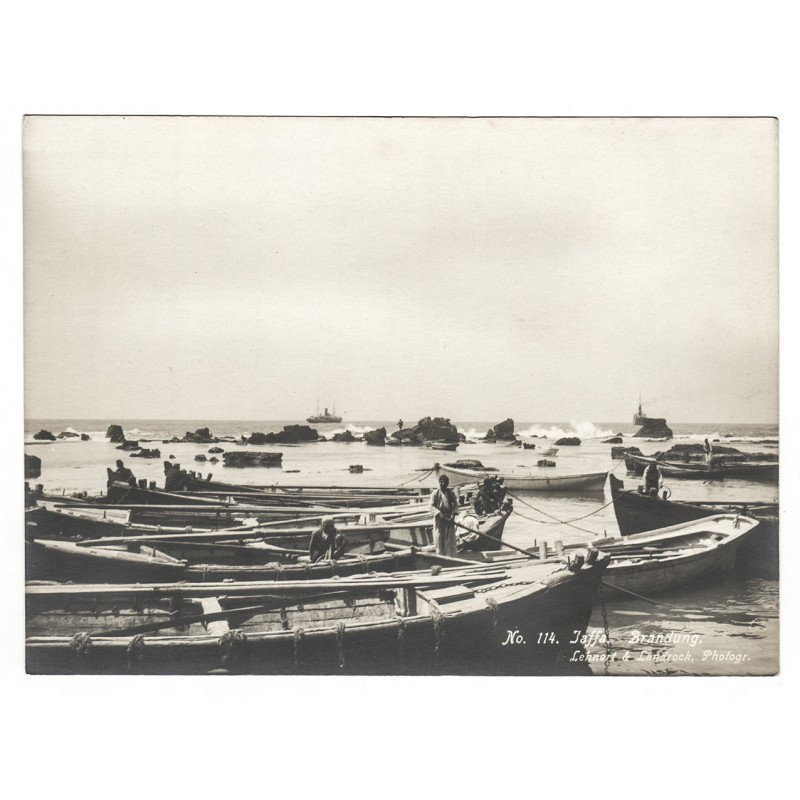 LEHNERT & LANDROCK: Jaffa. Boat Harbour. Original photography (1920th).