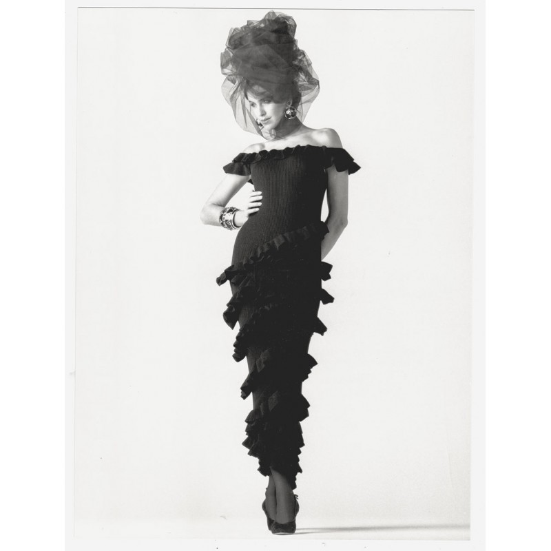 Fashion photography: GAFFNEY, Joe: Robe longue. Original photography (1987)