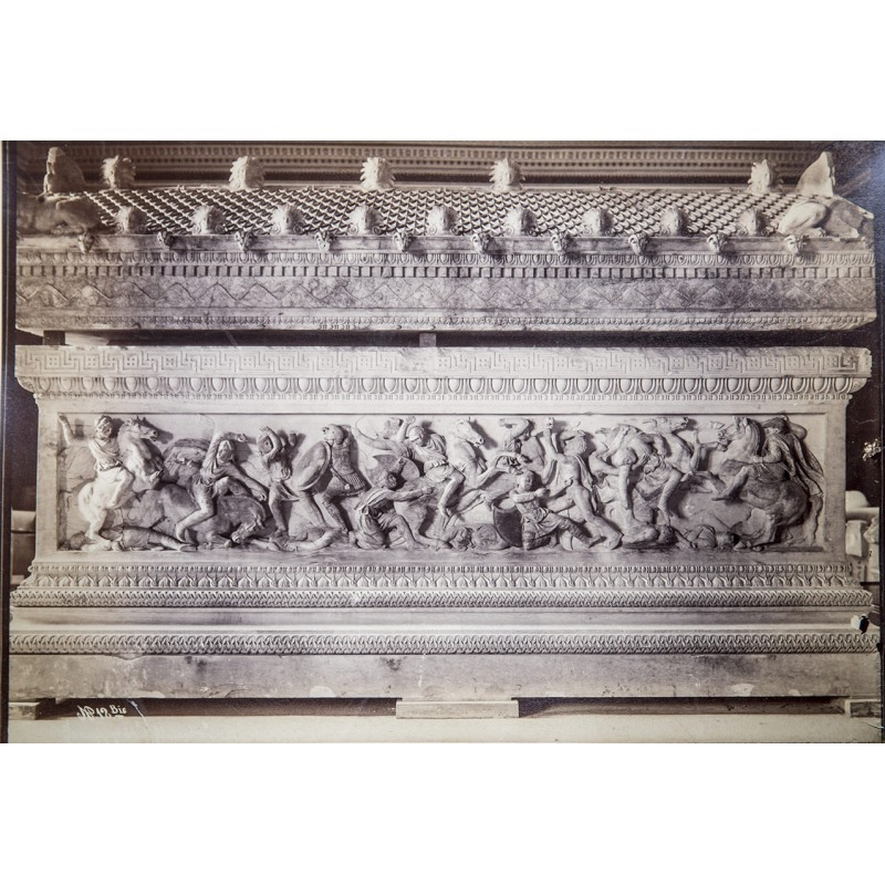 Istanbul: Alexander sarcophagus. Original photography. Albumen print (approx. 1880)