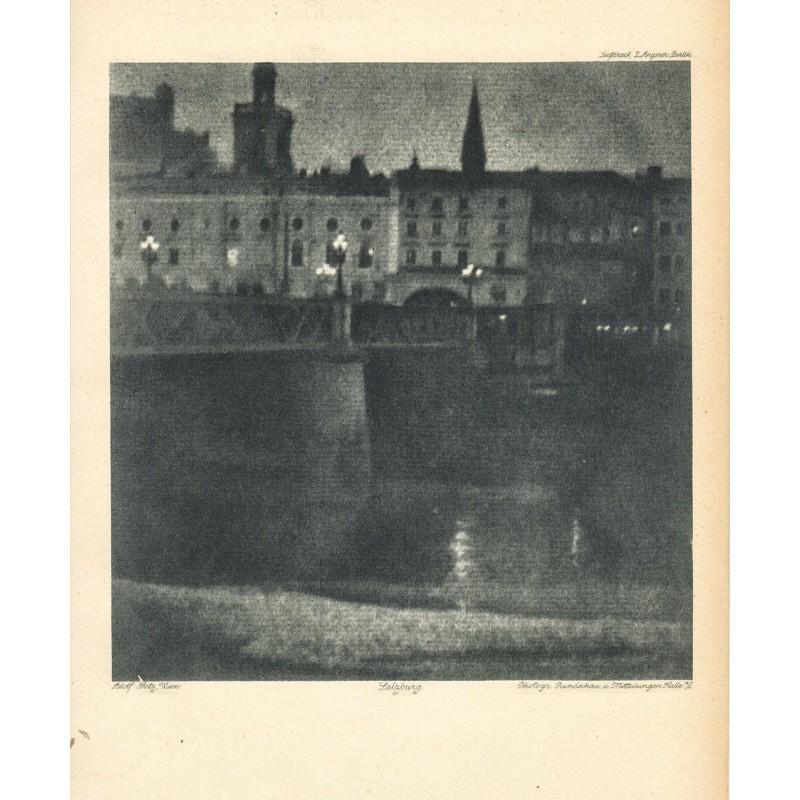 Fritz, Adolf, Wien: Salzburg bei Nacht. Heliogravuere (1918)