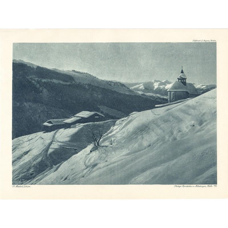 MISCHOL, Domenic: Winterlandschaft. Heliogravuere (1918)