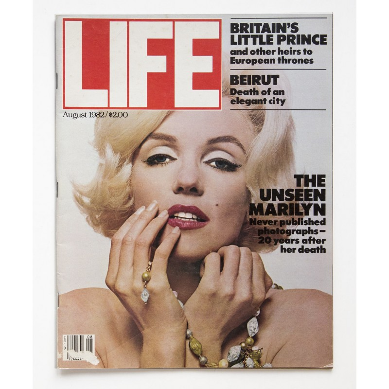 LIFE Magazine: The Unseen Marilyn Monroe. Never published photographs. Issue August 1982