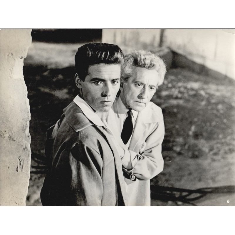 Jean Cocteau and Edouard Dhermite in movie pictute. Original photography (1950)