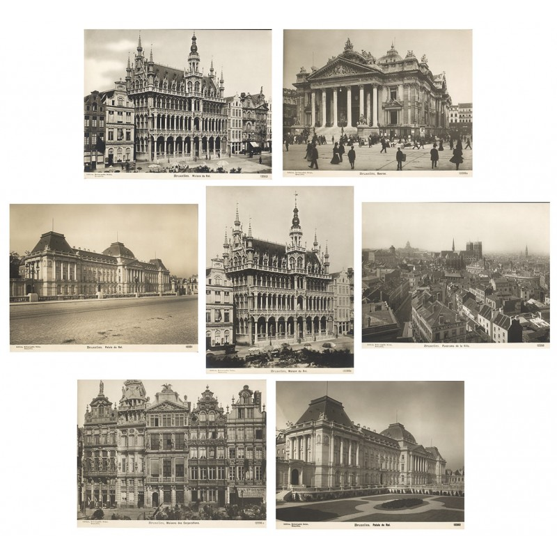 Bruxelles. 7 original photographs (ca. 1905).