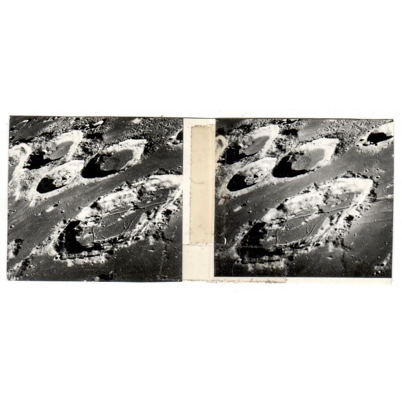 NASA: Detail of moon surface. Stereo photography. Silver gelatin print (1967)