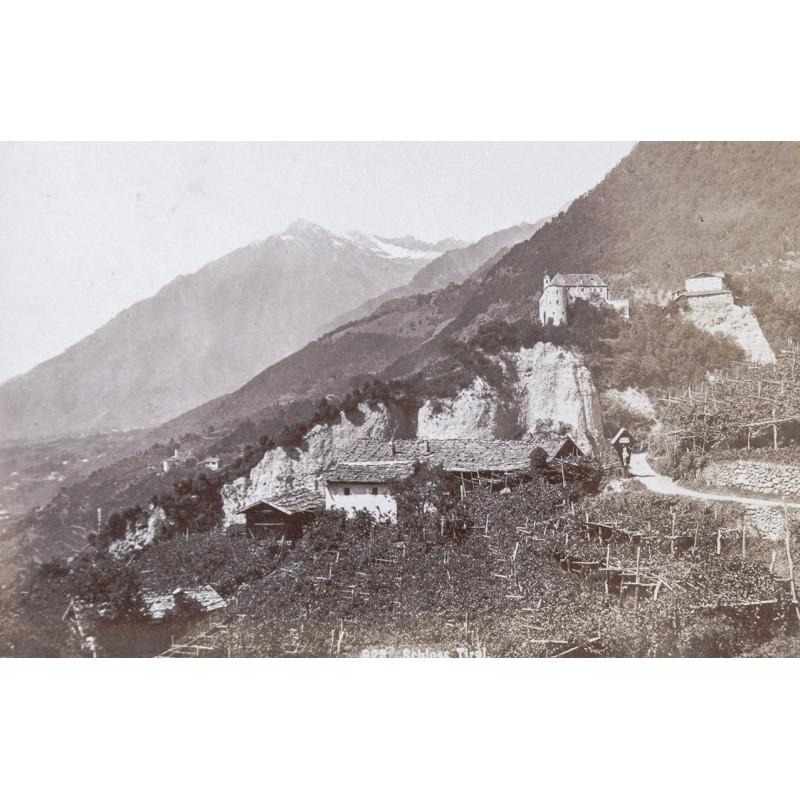 Ansicht des SCHLOSS TIROL. Original Fotografie. Albumin-Abzug (1900)