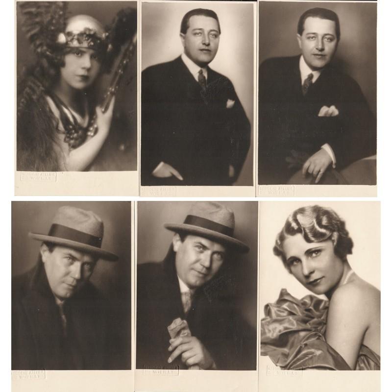 RESIDENZ-ATELIER, Wien: 6 Original-Fotografien von Schauspielern (1920er Jahre).
