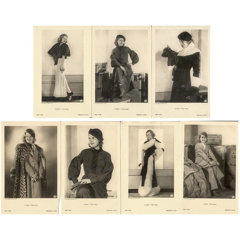 Lilian HARVEY. 7 Original-Fotografien. Silbergelatine-Abzüge (1920er Jahre).