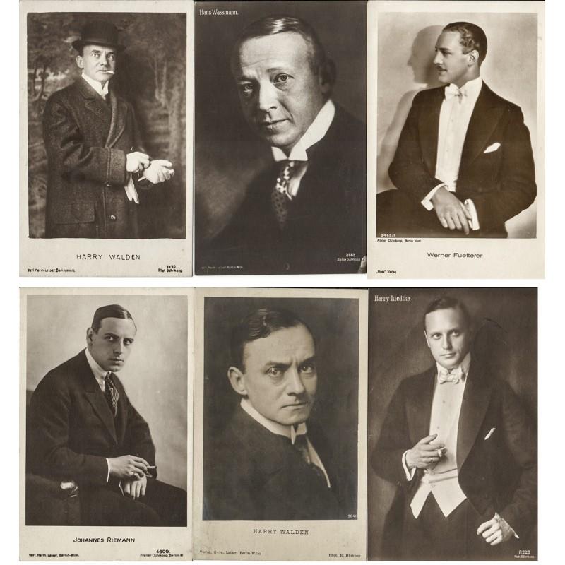 DÜHRKOOP: 6 Filmschauspieler-Bildnisse. Original-Fotos (1920er Jahre).