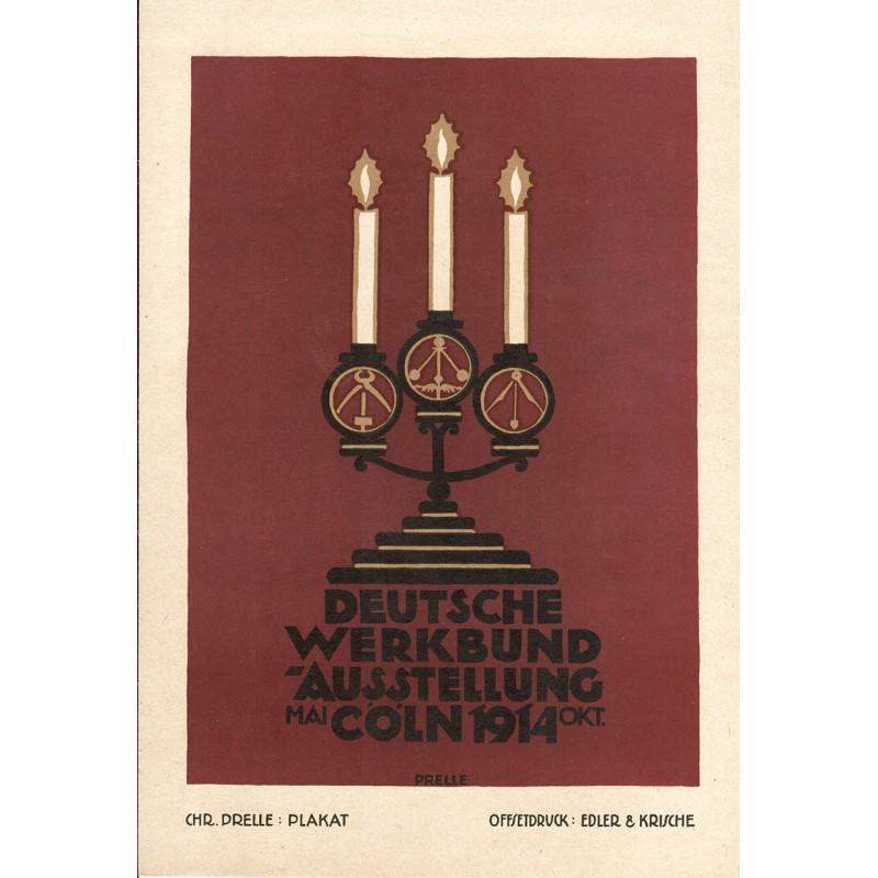Werbe-Plakat-Entwurf - Prelle, Christian: DEUTSCHE WERKBUND-AUSSTELLUNG Cöln 1914.