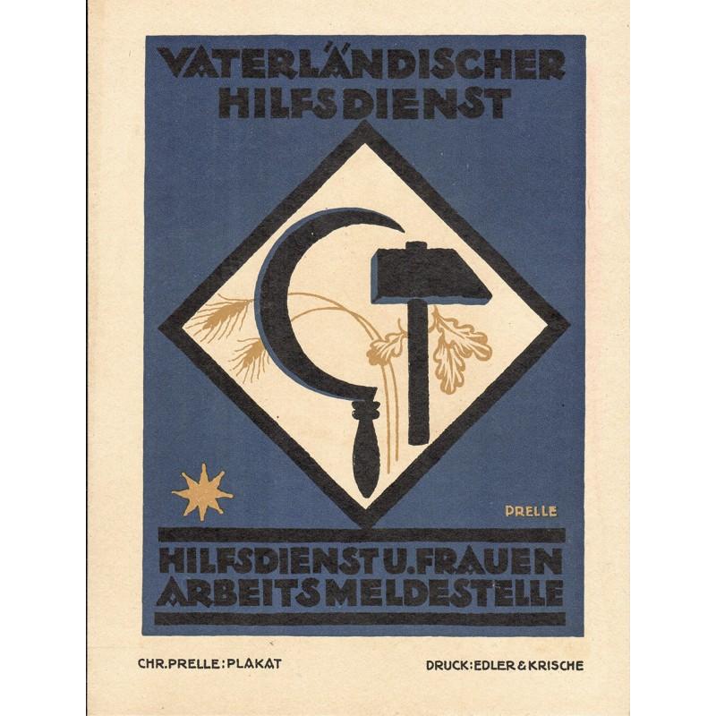 Werbe-Plakat-Entwurf - Prelle, Christian: Hilfsdienst und Frauen Arbeitsmeldestelle (1919)