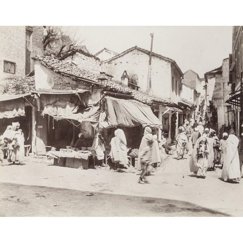 Algerien - Constantin / Algerien. Arabisches Viertel. Original-Fotografie (ca. 1880)