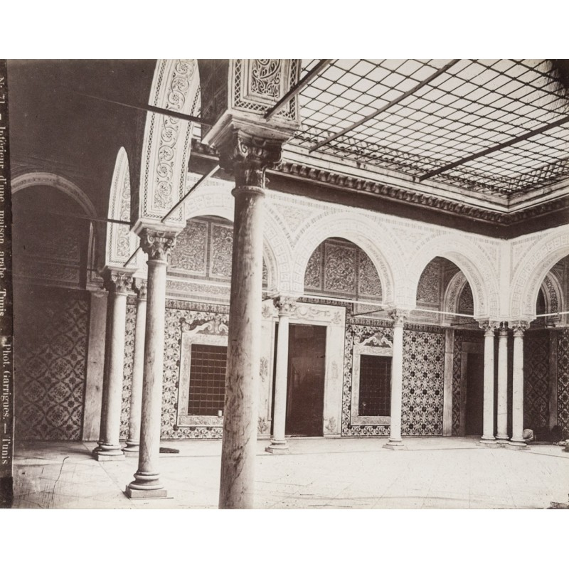 Tunesia - Interieur d'une maison arabe, Tunis (Image No. 71) Original photography (approx. 1885)