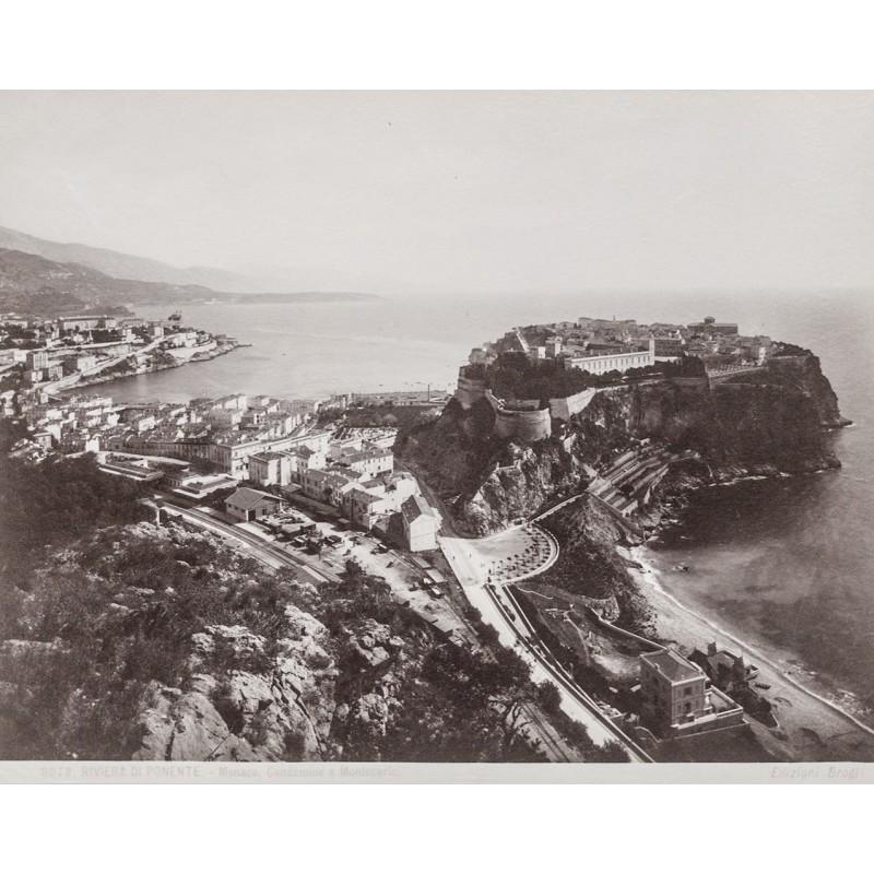 Monaco - Editione Brogi: Riviera di Ponente: MONACO. Original-Fotografie (ca. 1890)
