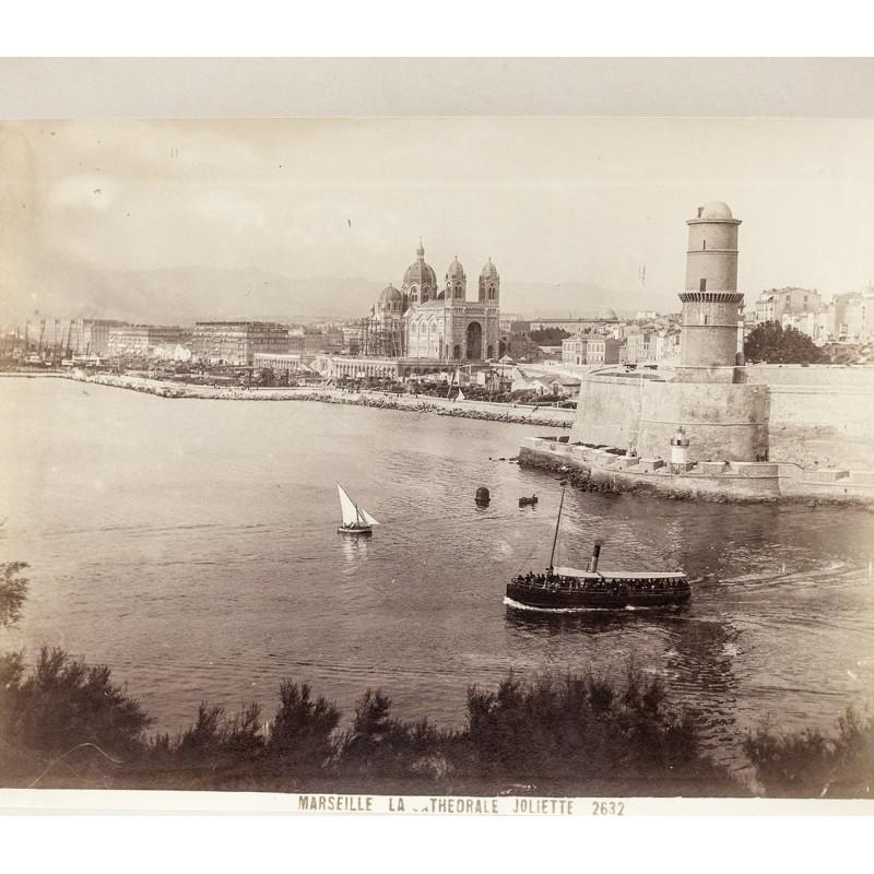 Marseille. La Cathedrale Joliette. Original Fotografie. Albumin-Abzug (ca. 1890)