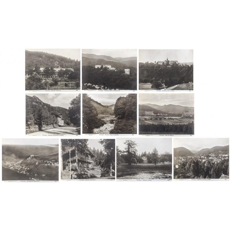 Neue Photographische Gesellschaft: THÜRINGEN. 11 Original-Fotografien (ca. 1905)