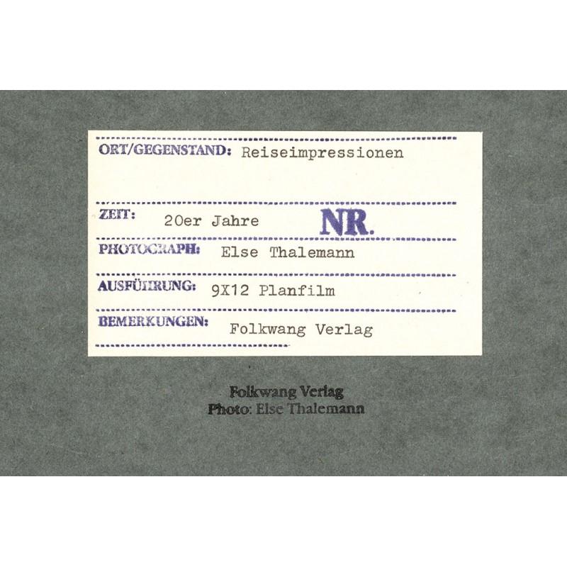 THALEMANN, Else: Reiseimpressionen. Original-Fotografie.