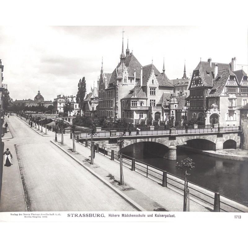 Strassburg zur Deutschen Kaiserzeit in 20 Original Fotografien. Portfolio (1904)