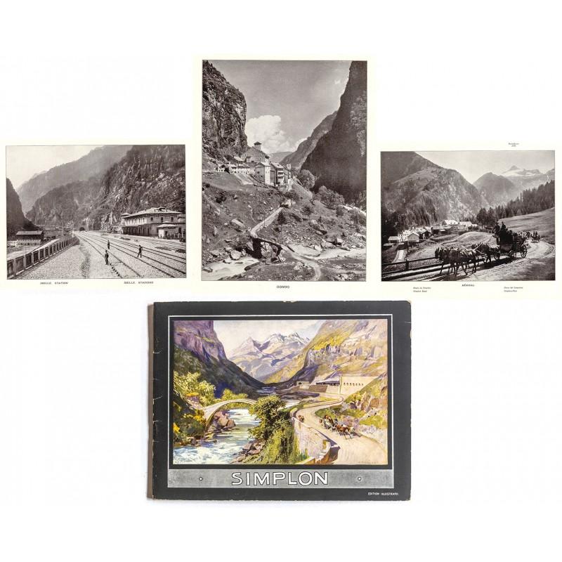 SIMPLON-BAHN und PASS. Album mit 40 Ansichten nach Fotografien (um 1895)