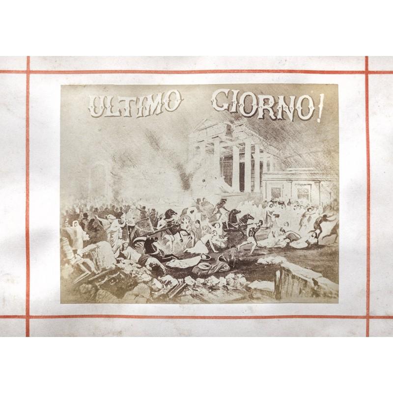 POMPEI (Pompeji). Album mit 25 Original-Fotografien. Albumin Abzüge (ca. 1890)