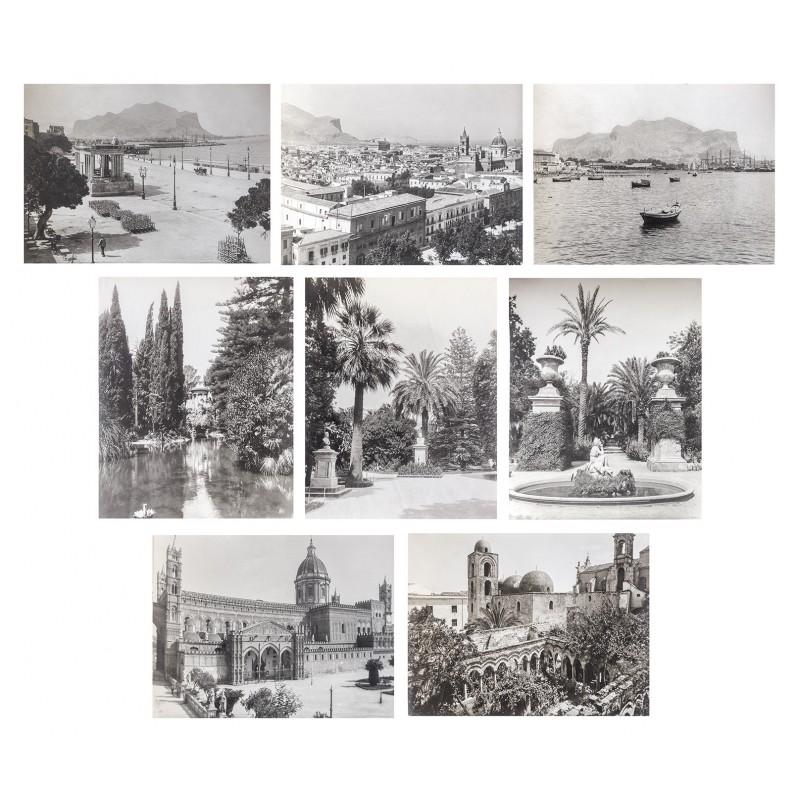 Palermo / Sizilien: 8 Original Fotografien (ca. 1905)