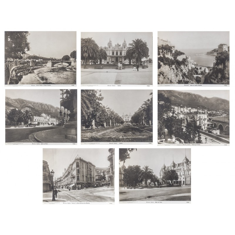NPG) Monaco - Monte Carlo: 8 original photographs (approx. 1905).