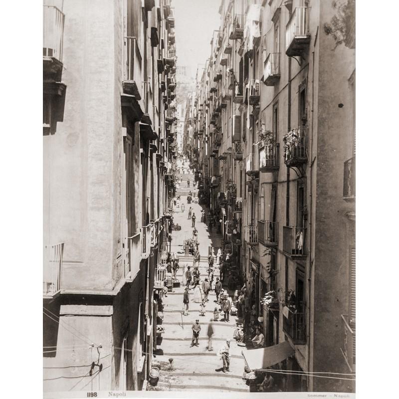 SOMMER, Giorgio: Neapel - Napoli. Strassenszene. Original Fotografie (ca. 1890).