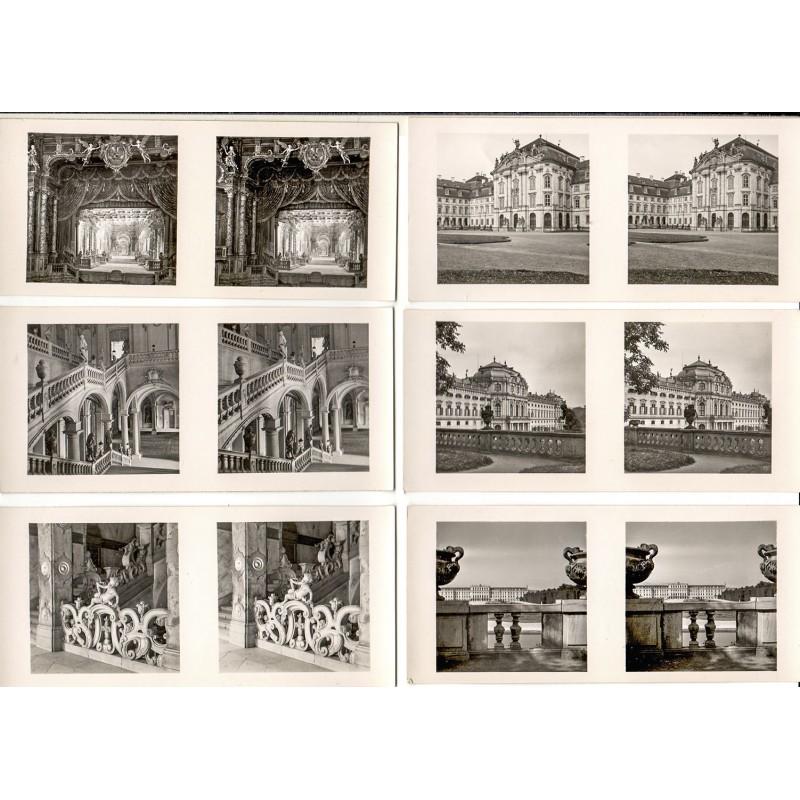 """Raumbilder des Schönstein-Verlages - 24 Bildpaare aus der Serie """"Kostbarkeiten des Barock"""" - Serie II (1948 - 1950)"""