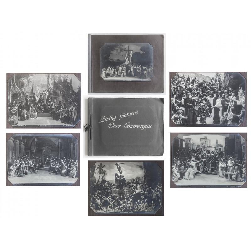 Passionsspiele von Oberammergau 1910. Zehn grosse Original Fotografien im Original Album