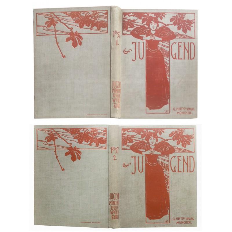 Visuelle Ikonen des Deutschen Jugendstils - JUGEND, Erster Jahrgang (1897)