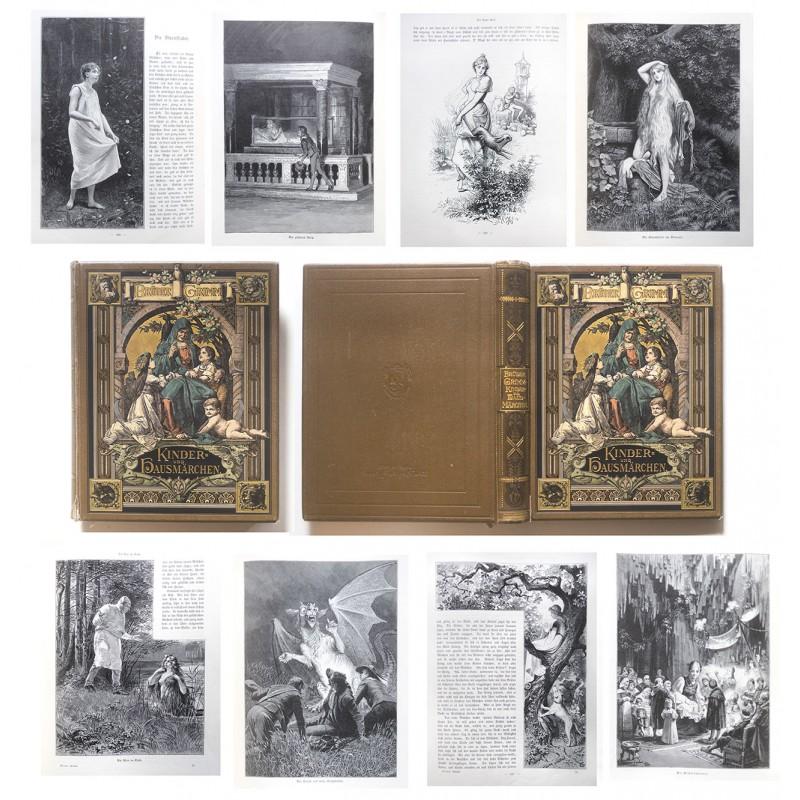 PRACHTBAND: Kinder- und Hausmärchen gesammelt durch die Brüder Grimm (1892)